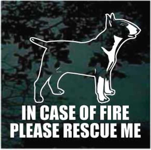 Fire Rescue Bull Terrier Window decal