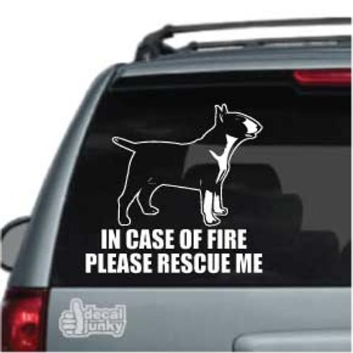 Fire Rescue Bull Terrier car decal