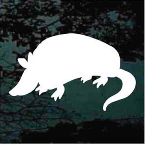 Armadillo Silhouette Window Decals
