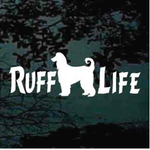 Ruff Life Afghan Hound Decals