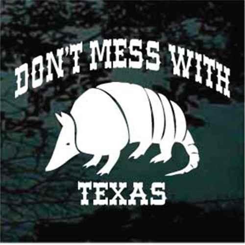 Texas Armadillo Window Decal