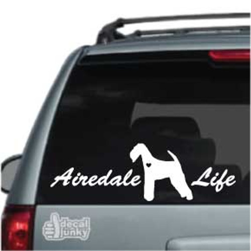 Airedale Life Car Decal