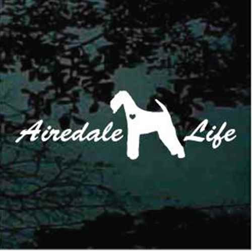 Airedale Life Window Decal