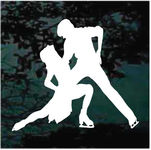 Figure Skating Couple Decals
