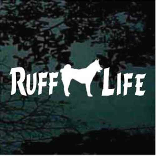 Ruff Life Akita Dog Window Decals