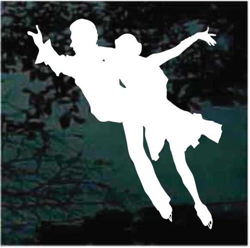 Figure Skating Pair Dancing Decals