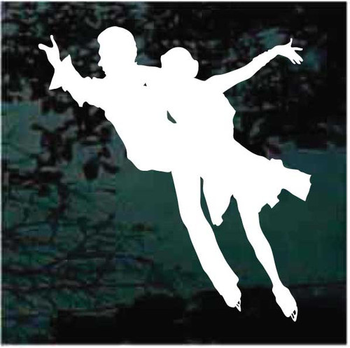 Figure Skating Pair Dancing Decals