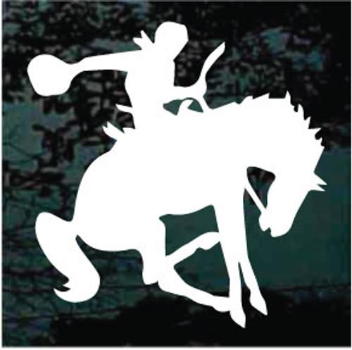 Bucking Bronco At Rodeo Window Decals