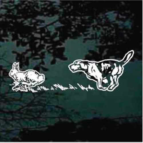 Beagle Chasing Running Rabbit Car Decals Amp Stickers