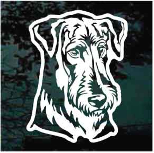 Sweet Airedale Terrier Window Decals