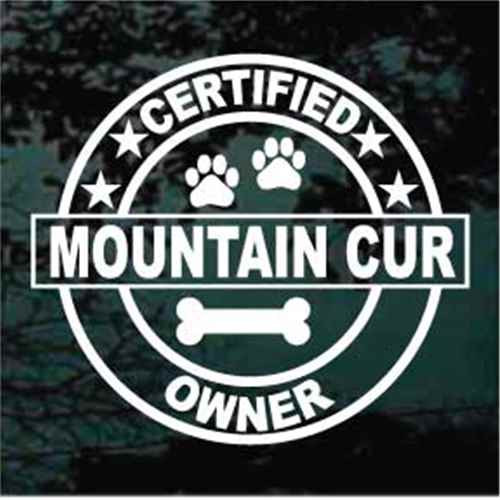 Certified Mountain Cur Owner Window Decal