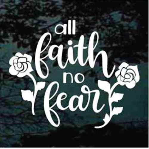 All Faith No Fear Decals