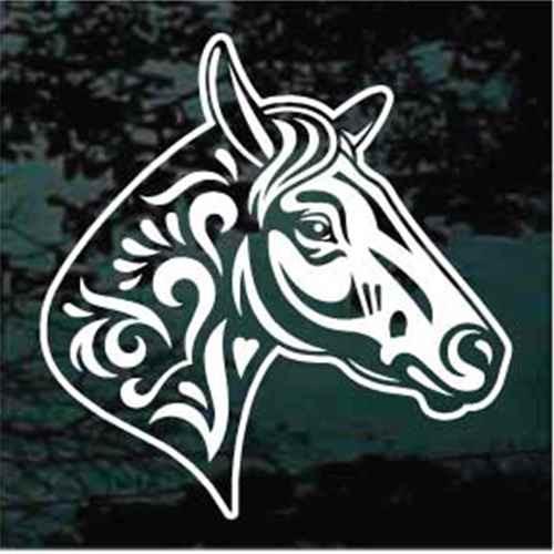 Decorative Horse Head Decals