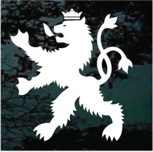 Lion Crest Window Decals