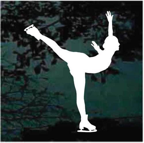 Figure Skating Silhouette Decals