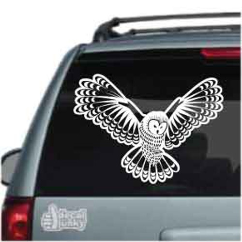 Flying Owl Car Decal