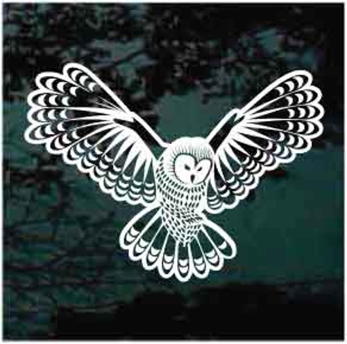 Flying Owl Window Decal