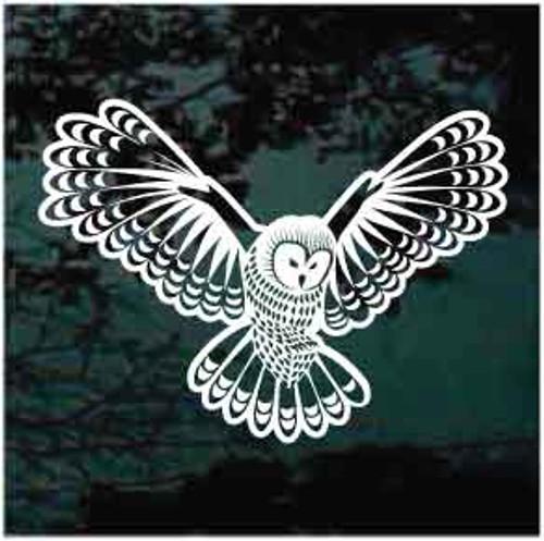 Flying Owl Window Decals