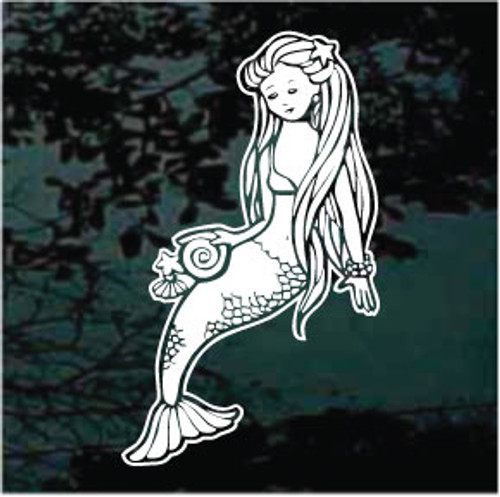 Mermaid With Long Flowing Hair