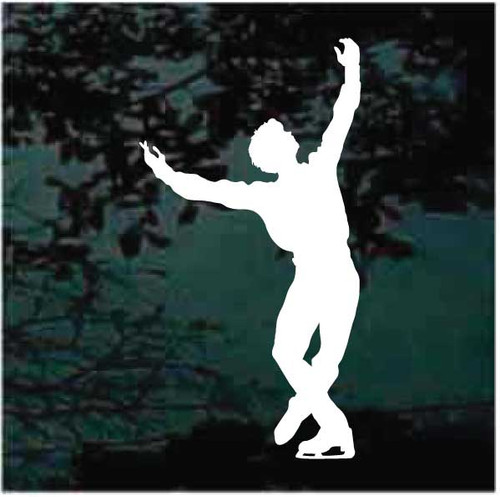 Man Figure Skating Decals