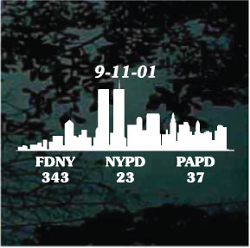 911 Fallen Heroes Window Decals