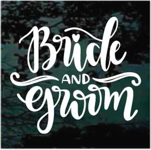 Bride & Groom Sign Window Decals