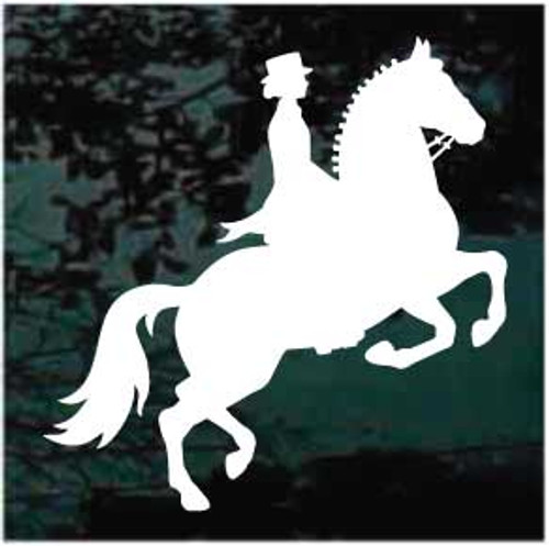 Equestrian Dressage Horse Window Decal