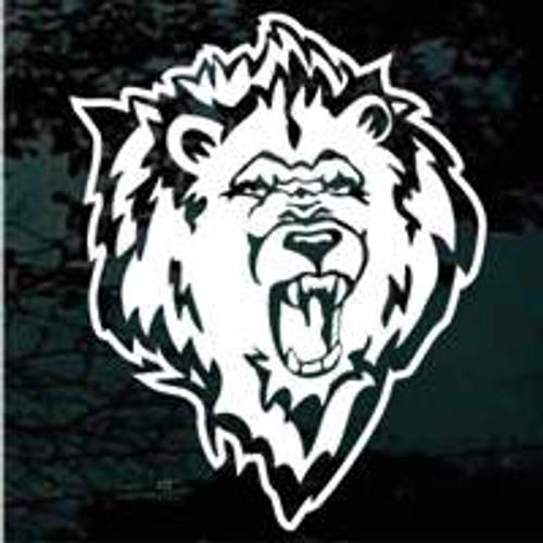 Roaring Lion Head Window Decals