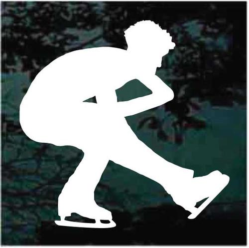Man Figure Skater Decals