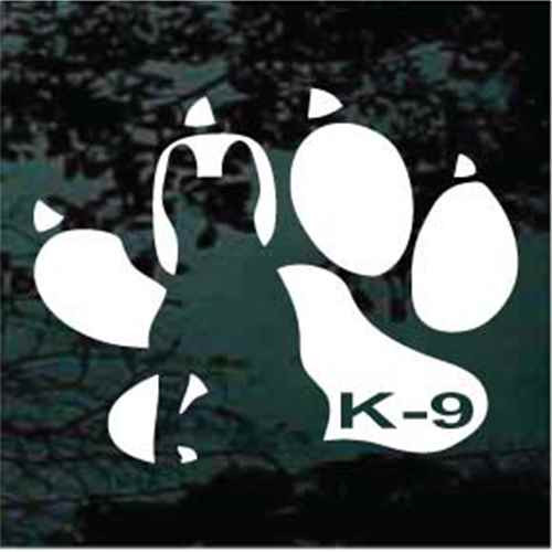 K-9 Paw Print Window Decal