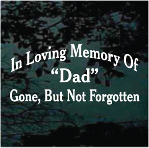 In Loving Memory of Dad Memorial