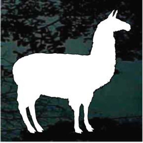 Llama Silhouette Window Decals