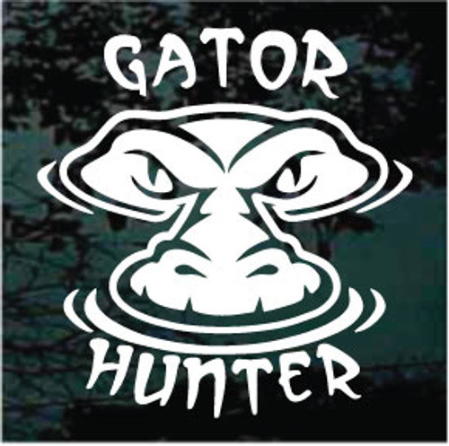 Gator Hunter Window Decals