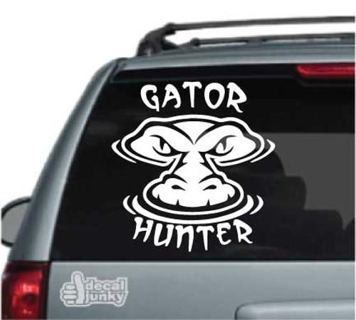 Gator Hunter Car Decal