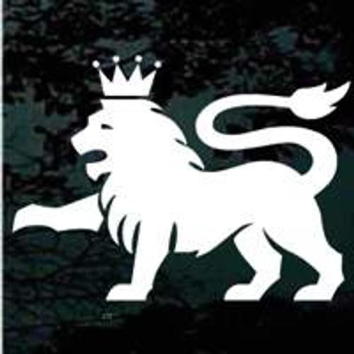Heraldic Lion Crest Window Decals