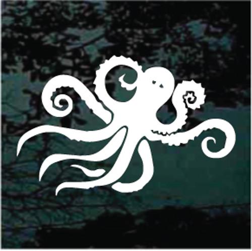 Lovely Octopus Window Decals