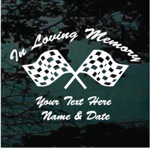 Checkered Race Flags Memorial Decals