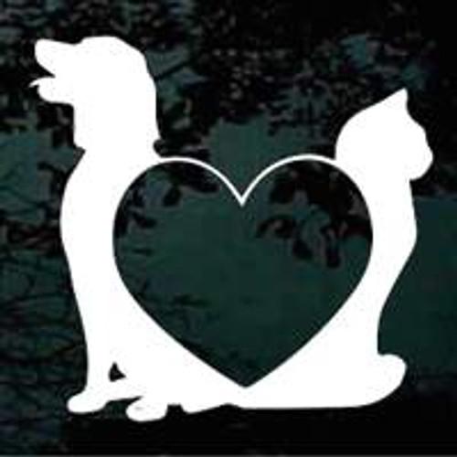 Dog Cat Heart Border
