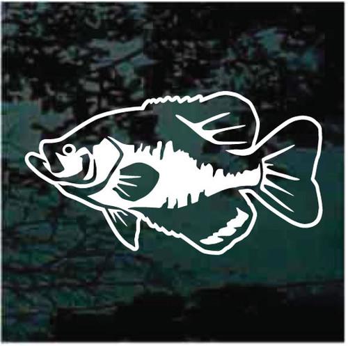 Detailed Crappie Fish Decals