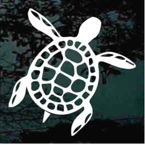 Hawaiian Turtle Cut Out Decals