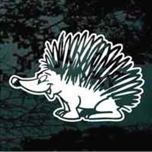 Hedgehog Cartoon Window Decals