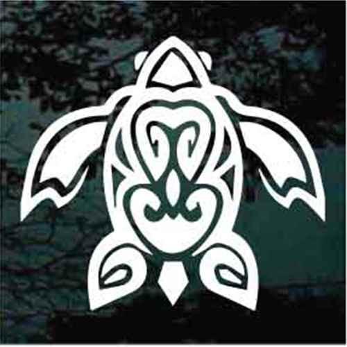Tribal Sea Turtle Window Decals