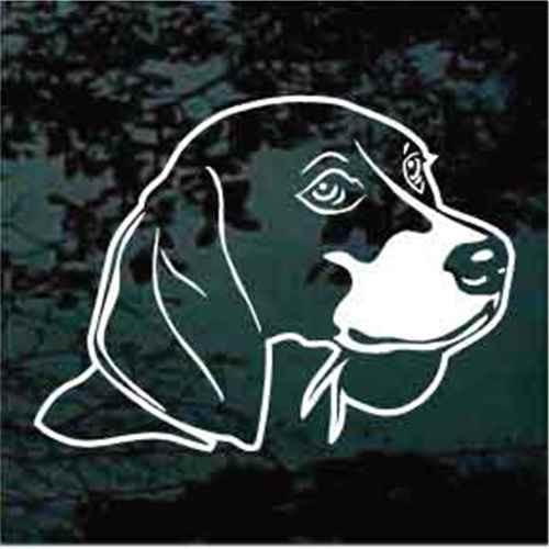 Sweet Beagle Head Window Decals