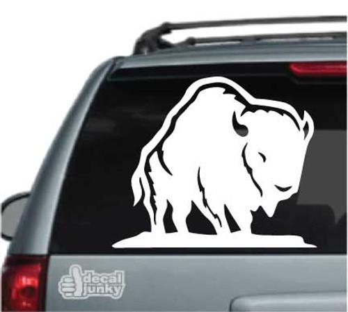 Buffalo Standing Car Decal