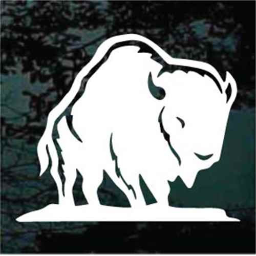 Buffalo Standing Window Decal