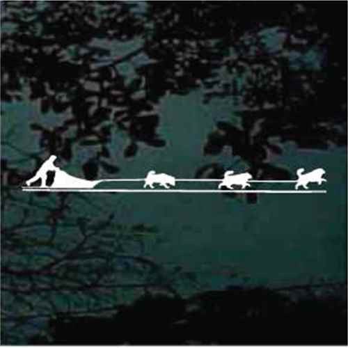 Sled Dog Team Window Decal