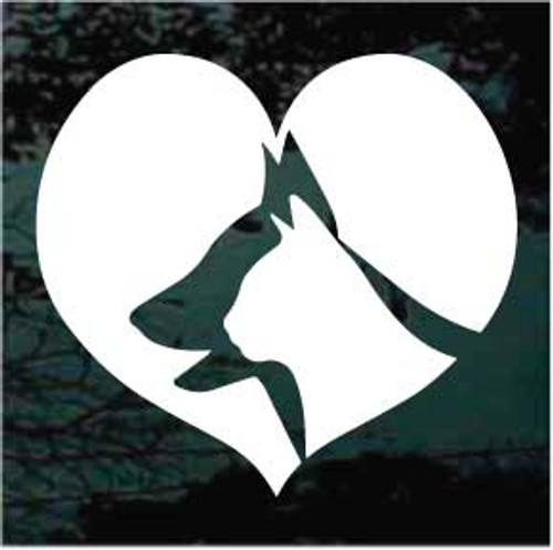 Solid Dog & Cat Heart Window Decal