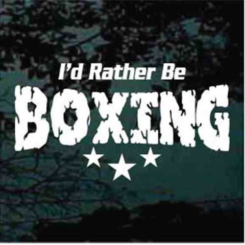 I'd Rather Be Boxing Decals