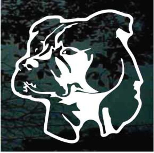 Majestic Pitbull Head  Decals