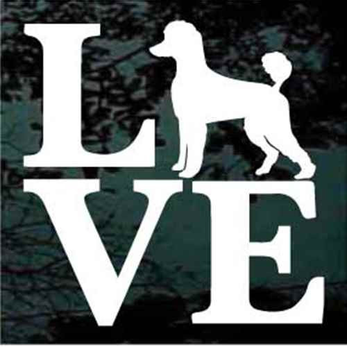 Poodle Love Window Decal